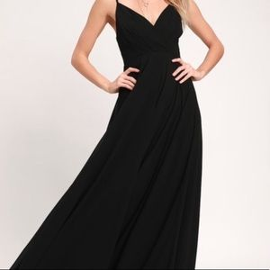 Lulus All About Love Black Maxi Dress
